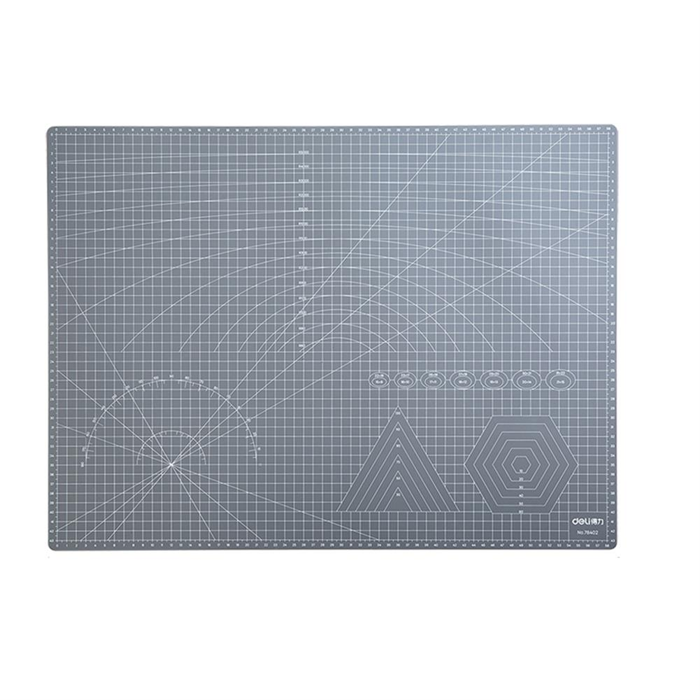 paper-cutter Deli 78402 A2 A3 Grey PVC Cutting Mat Paper Cutting Project Work Pad Board with Scale Handmade DIY Patchwork Tools HOB1760578 1 1