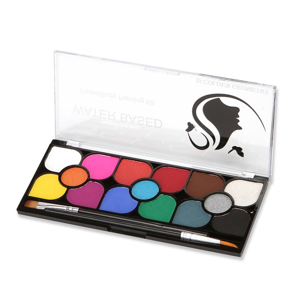 watercolor-paints 15 Colors Water Paint Christmas Halloween Party Face Painting Body Makeup Pigment Kit with Brush Painting Tool HOB1760590 1