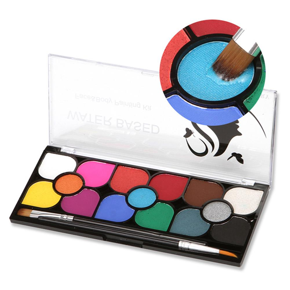 watercolor-paints 15 Colors Water Paint Christmas Halloween Party Face Painting Body Makeup Pigment Kit with Brush Painting Tool HOB1760590 1 1