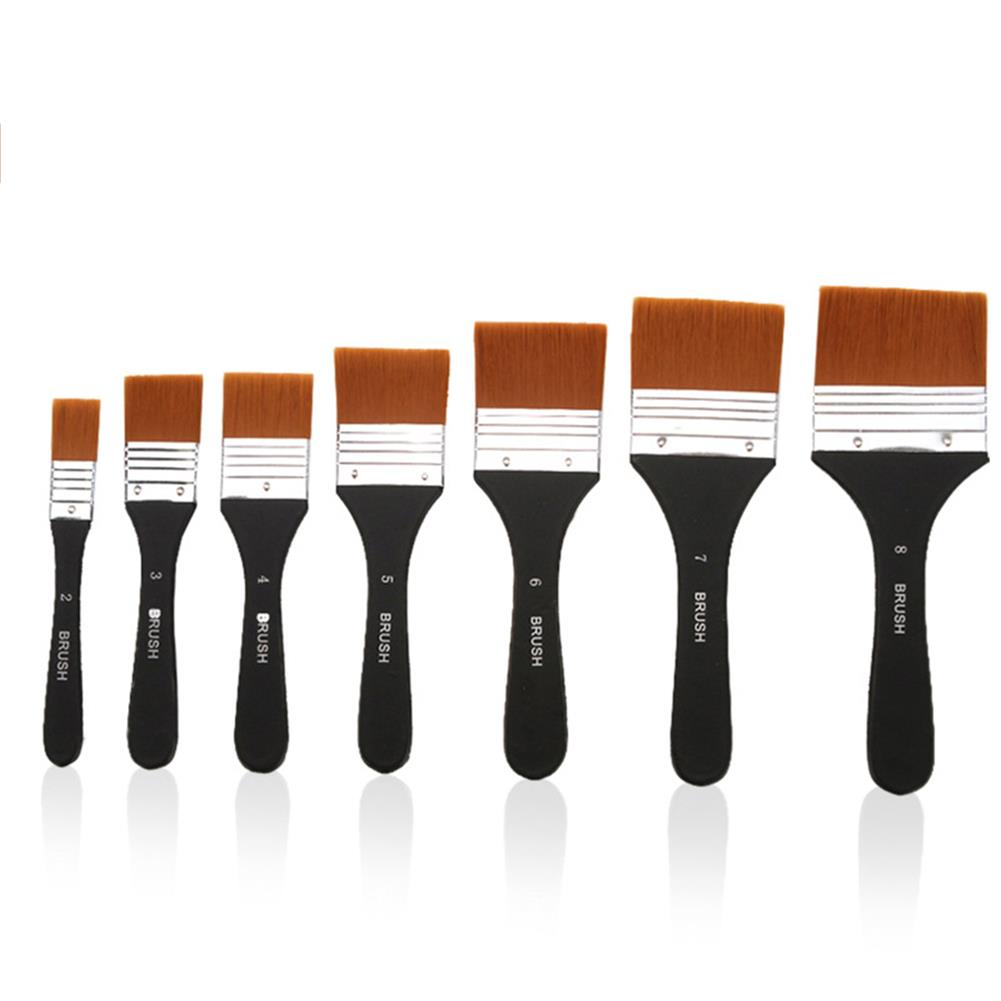 brush Nylon Painting Brushes Wooden Handle Gouache Oil Painting Paint Wall Painting Brush Drawing Art Supplies HOB1760646 1
