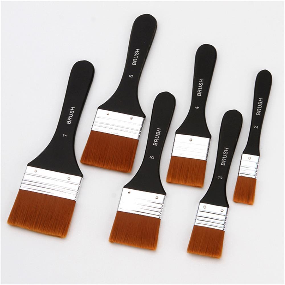 brush Nylon Painting Brushes Wooden Handle Gouache Oil Painting Paint Wall Painting Brush Drawing Art Supplies HOB1760646 1 1