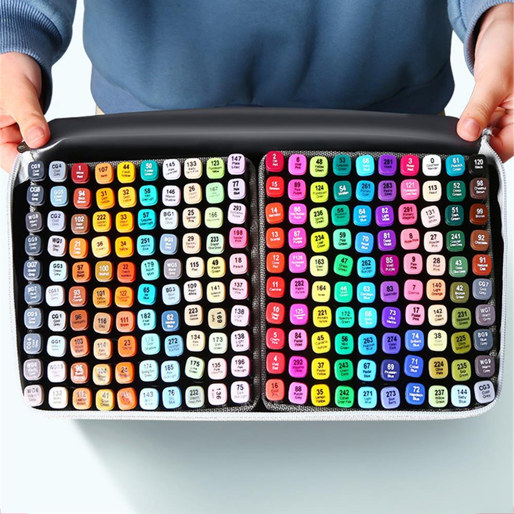 marker 30/40/60/80 Colors Marker Set Dual Head Oily Alcoholic Graffiti Sketch Marker Brush Pen Drawing Art Supplies HOB1760686 2 1