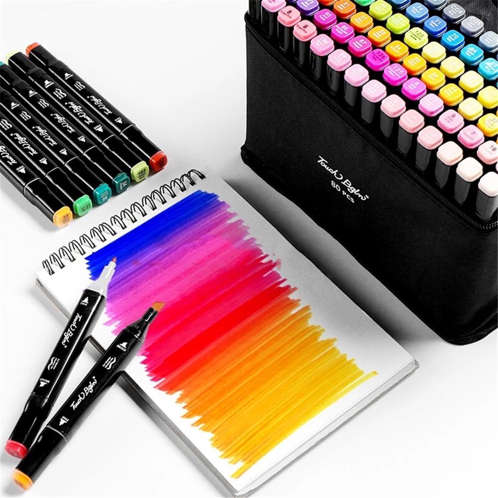 marker 30/40/60/80 Colors Marker Set Dual Head Oily Alcoholic Graffiti Sketch Marker Brush Pen Drawing Art Supplies HOB1760686 3 1