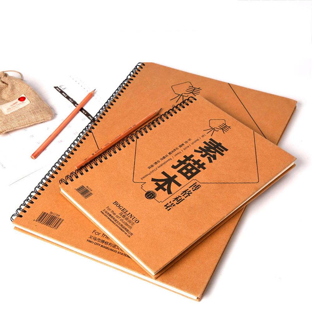 paper-notebooks 8K 30 Sheets Double-sided Sketchbook Hard Surface Sketchbook Pencil Painting Book Art Stationery Supplies HOB1760696 1