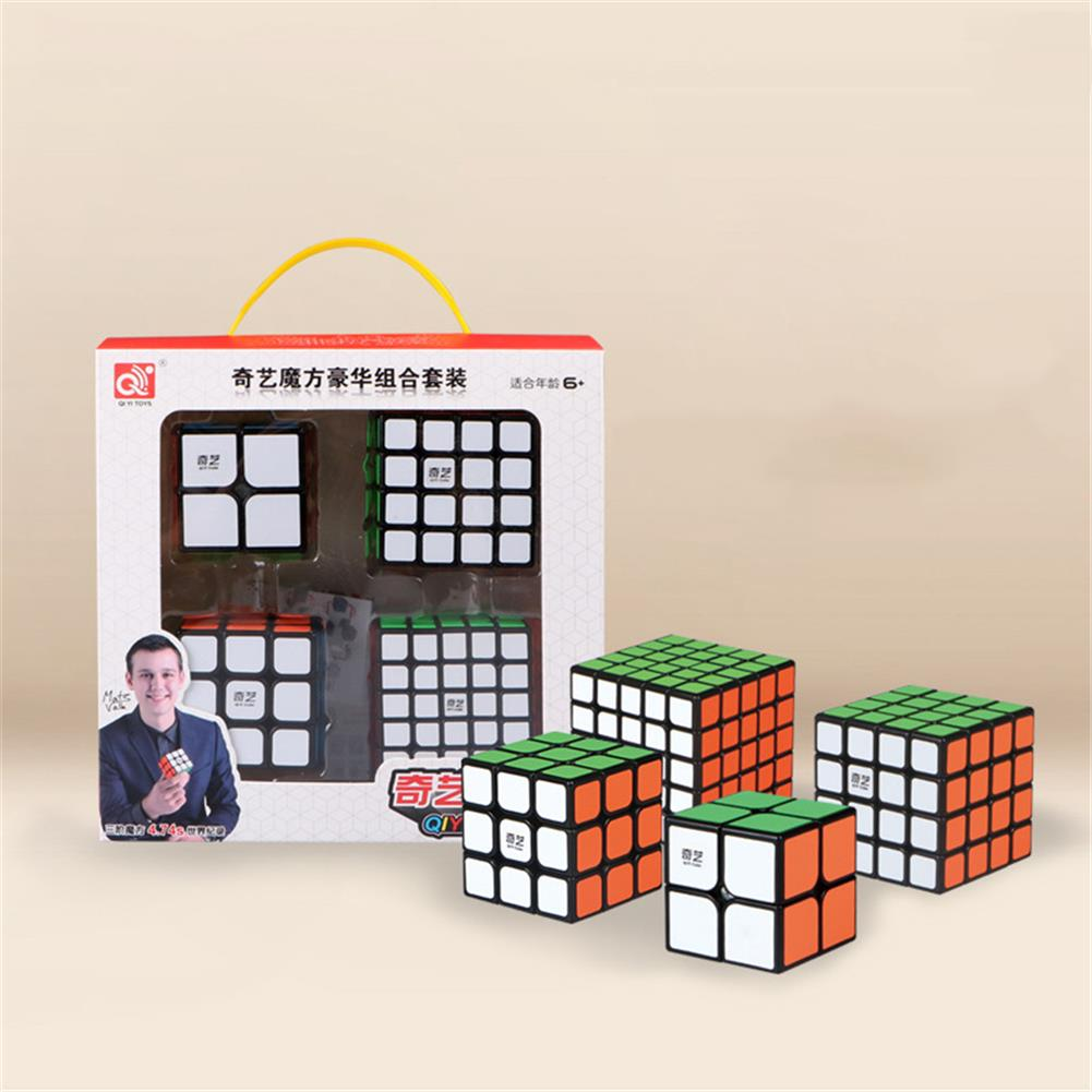other-learning-office-supplies QiYi 4pcs Magic Cube Set 2x2 3x3x3 4x4x4 5x5x5 Speed Cube for Brain Training Children's Education Competition Toys HOB1760709 1 1