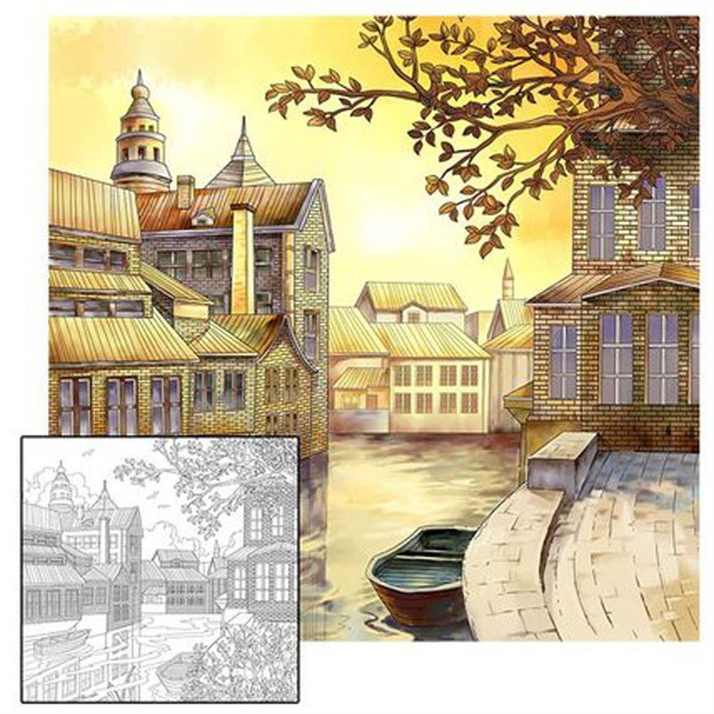 watercolor-paints 4Pcs/Set Adult Coloring Books Drawing Painting Book Secret Garden Style Adult Hand Drawn Decompression Art Supplies HOB1760743 3 1