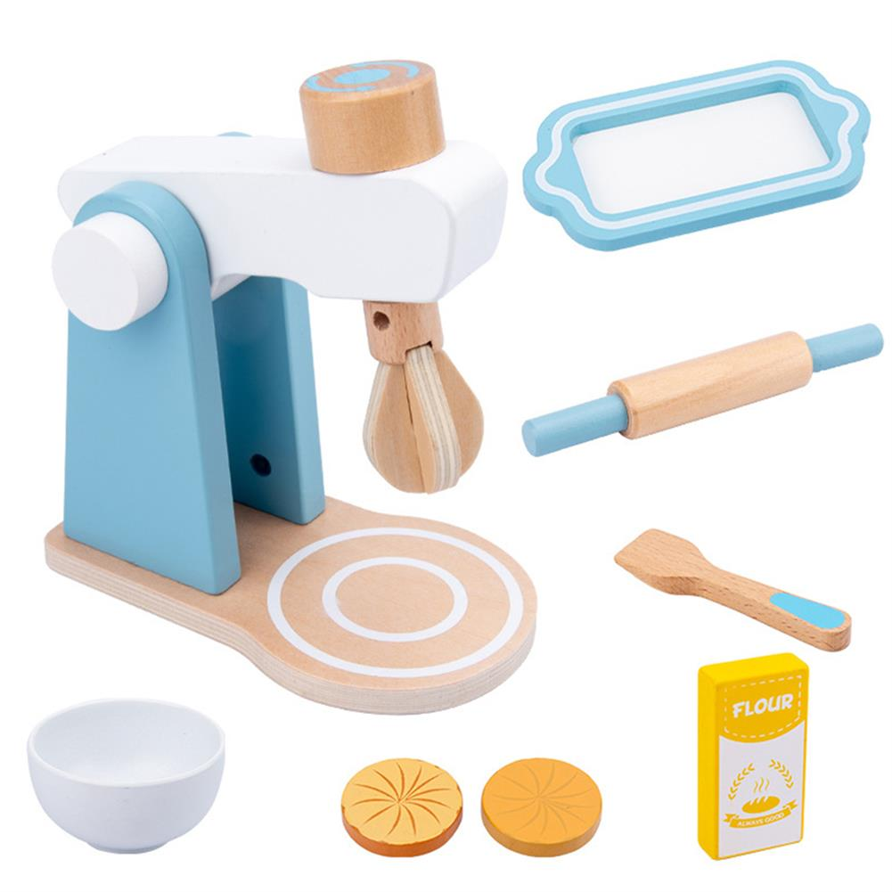 other-learning-office-supplies Baby Wooden Kitchen Toy Machine Food Mixer for Kids Pretend Play Educational Toy Children Party Decoration Birthday Gift HOB1760863 1
