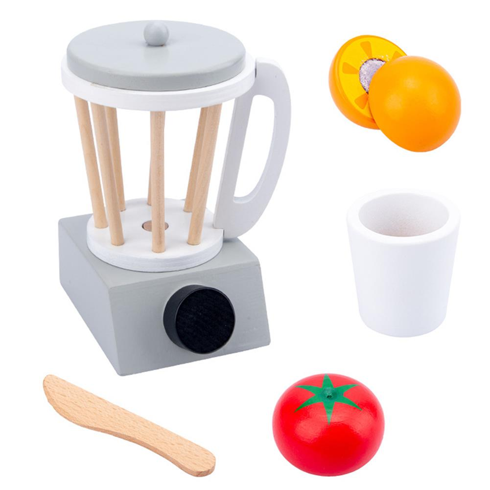 other-learning-office-supplies Baby Wooden Kitchen Toy Machine Food Mixer for Kids Pretend Play Educational Toy Children Party Decoration Birthday Gift HOB1760863 3 1