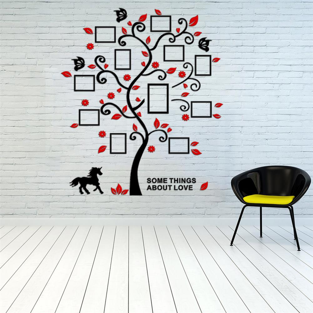 other-learning-office-supplies 3D Wall Photo Frame Acrylic Wall Stickers Living Room Bedroom Home Decorative Wall Sticker Wall Art Furnish Supplies HOB1760895 1 1