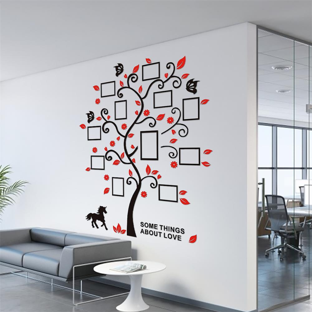 other-learning-office-supplies 3D Wall Photo Frame Acrylic Wall Stickers Living Room Bedroom Home Decorative Wall Sticker Wall Art Furnish Supplies HOB1760895 2 1