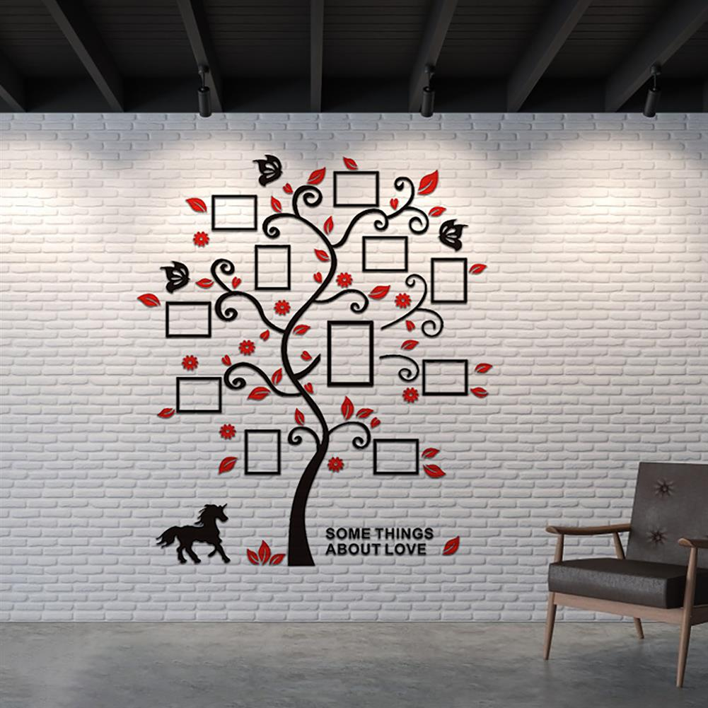 other-learning-office-supplies 3D Wall Photo Frame Acrylic Wall Stickers Living Room Bedroom Home Decorative Wall Sticker Wall Art Furnish Supplies HOB1760895 3 1