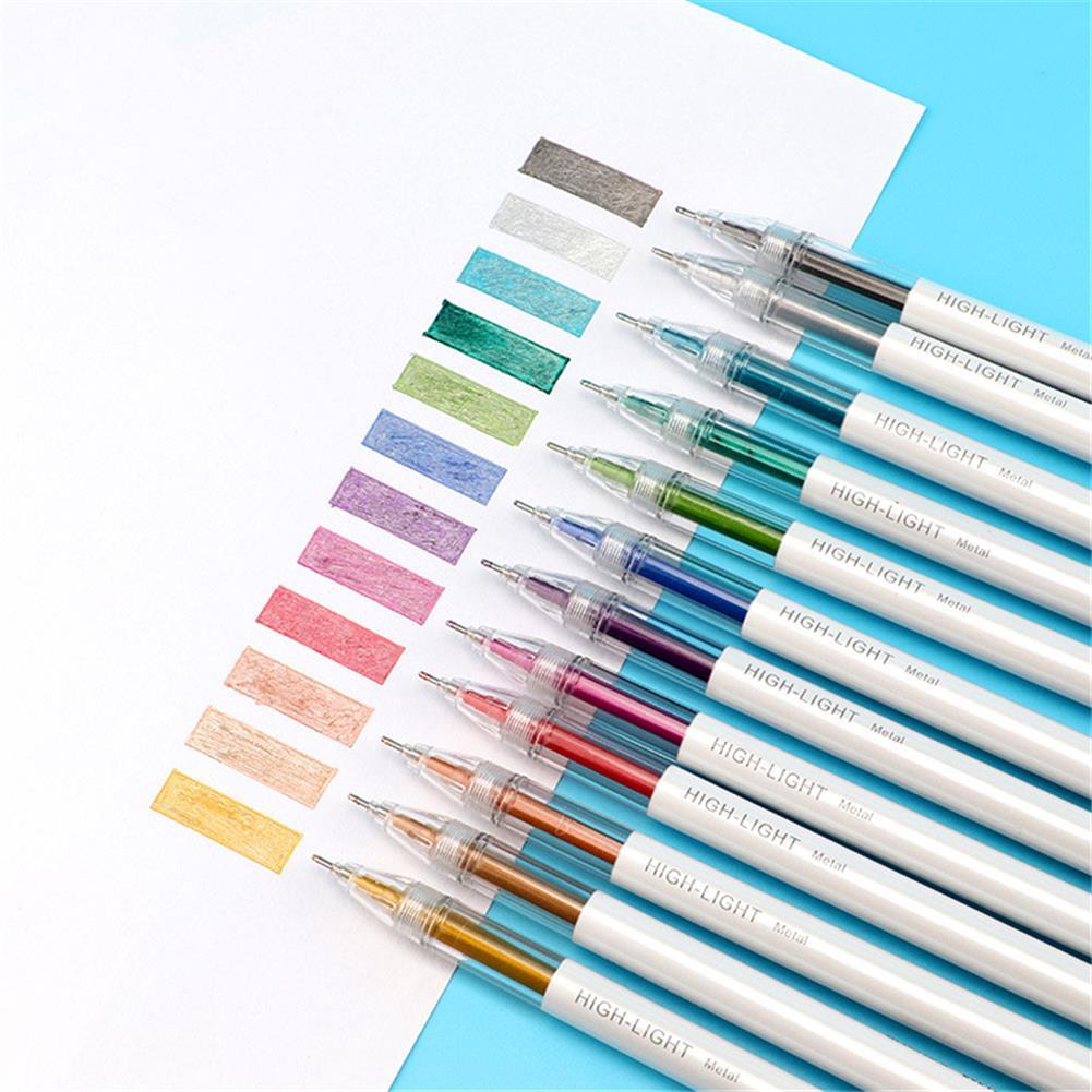 highlighter Baoke 12pcs 0.6mm Highlight Pen Set Multi-color ink Gel Pen for Kids Writing Art Manga Painting School Supplies HOB1761889 3 1