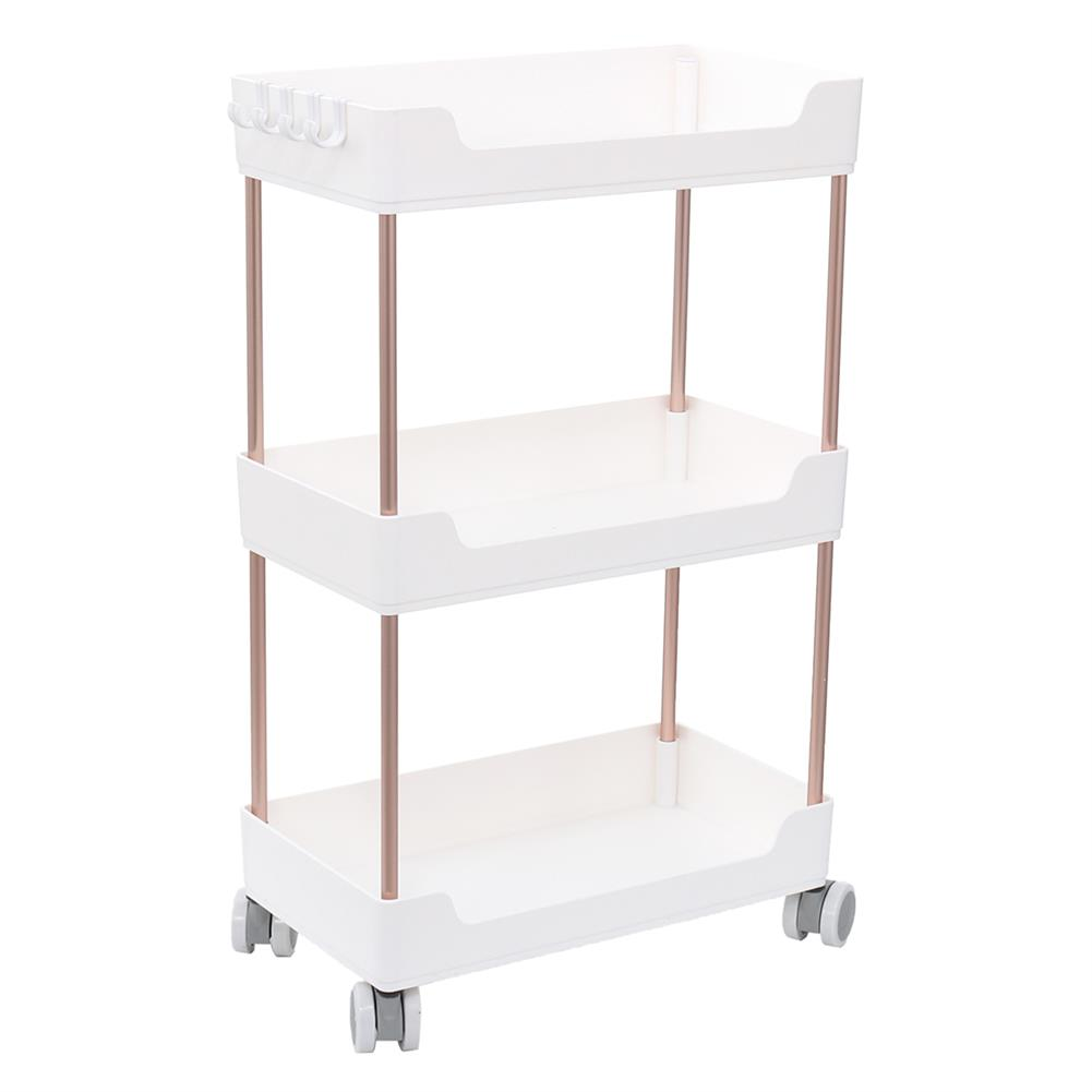 book-stands 2/3/4 Tier Kitchen Shelf Bathroom Arrangement Rack Floor Rack Crevice Storage Shelf Movable Trolley with Wheel Storage Rack HOB1762515 1 1