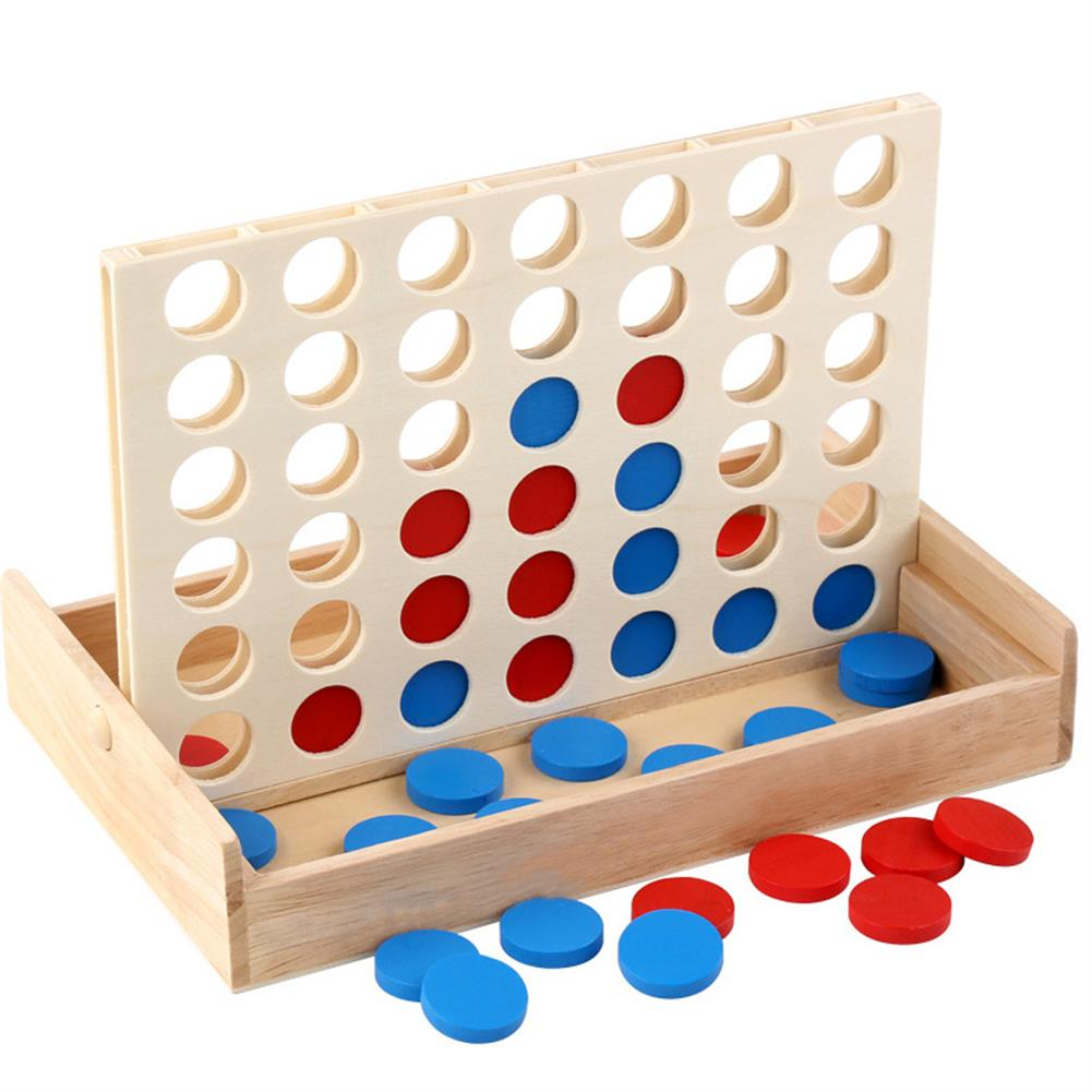 other-learning-office-supplies 4 in A Row Traditional Wooden Gameboard Education Board Game Classic 4 in a Line Connect Game for Home School HOB1763920 1