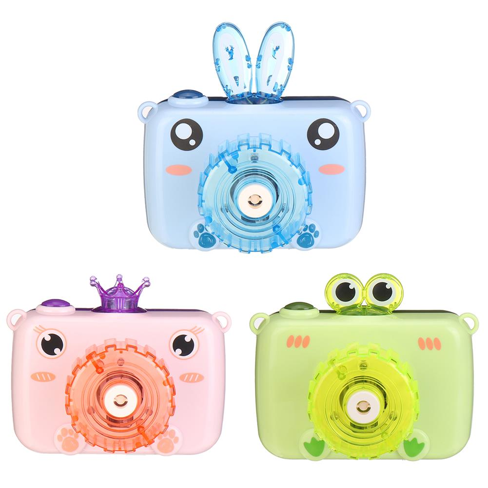 other-learning-office-supplies Electric Bubble Camera Children's Cartoon Music Fully-automatic Blowing Soap Bubble Machine Outdoor Children Toys HOB1763937 1