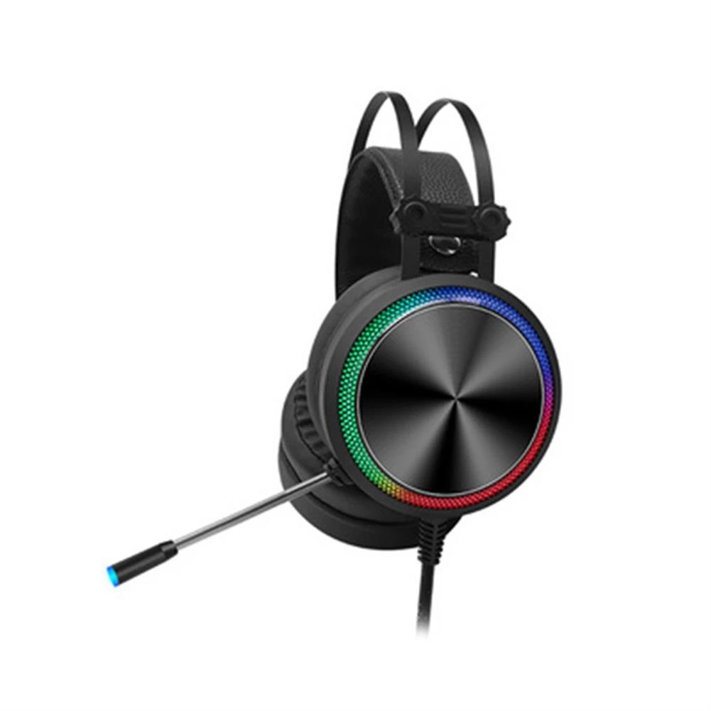 headphones Tuner K5 Game Headphone USB Wired 7.1 Channel 360 Surounding Sound 50mm Driver Bass Colorful Gradient Cool Lighting EffectGaming Headset with Mic for Computer PC for PS4 Gamer HOB1764145 1
