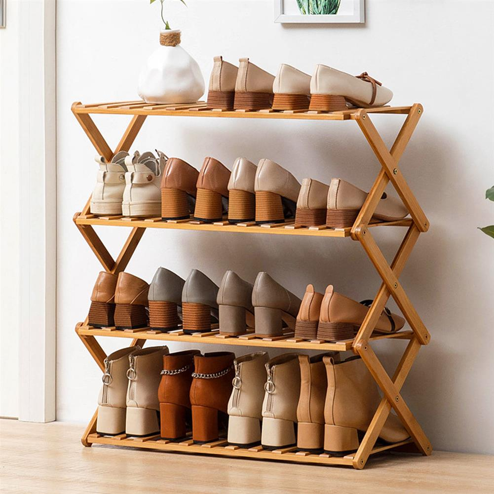 book-stands Bamboo Shoes Rack Plant Flower Pot Storage Shelf Bookshelf indoor Outdoor Garden Planter Flower Pot Stand Home office Decor HOB1764503 1 1