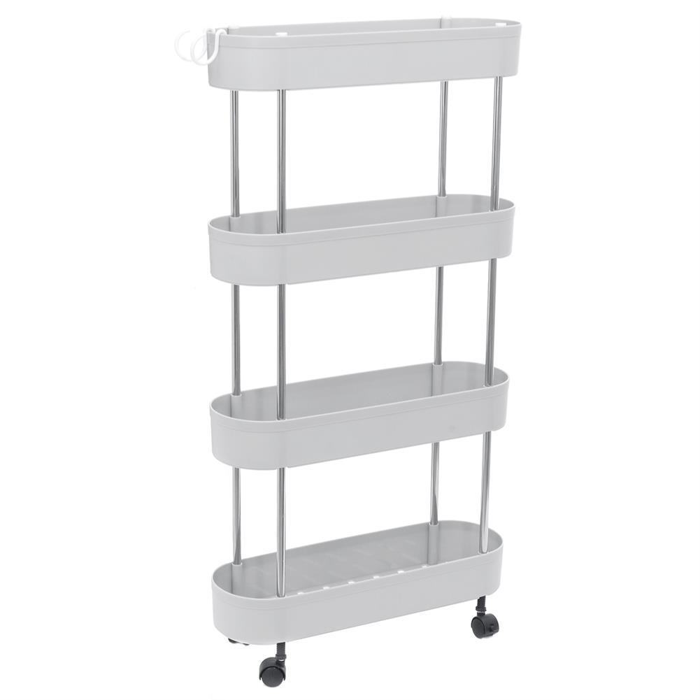 book-stands Multi-Layer Storage Cart Kitchen Bathroom Living Room Gap Storage Rack Trolley Organizer Tableware Holder Fruit Vegetable Shelves HOB1764525 1
