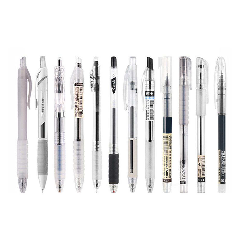 gel-pen Dianshi DS-904/914/924 Netural Pen 0.38/0.5mm Nib Transparent Design Black ink Gel Pen Writing Sketching Signing Pen for Students office HOB1764986 1