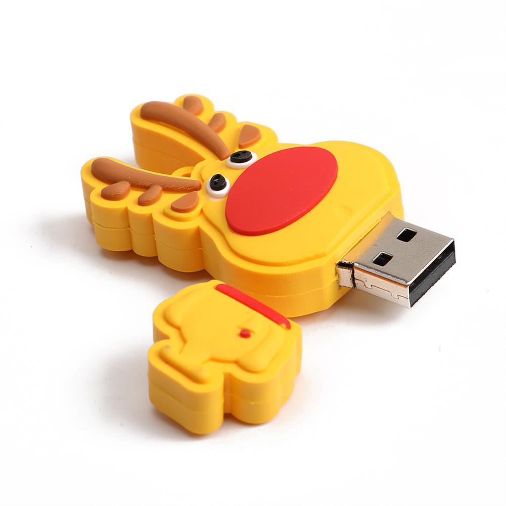 usb-flash-drives-drives-and-storage Christmas Deer USB2.0 Flash Drive Pendrive Cartoon USB Disk Christmas Gift 16G 32G 64G 128G HOB1765278 1