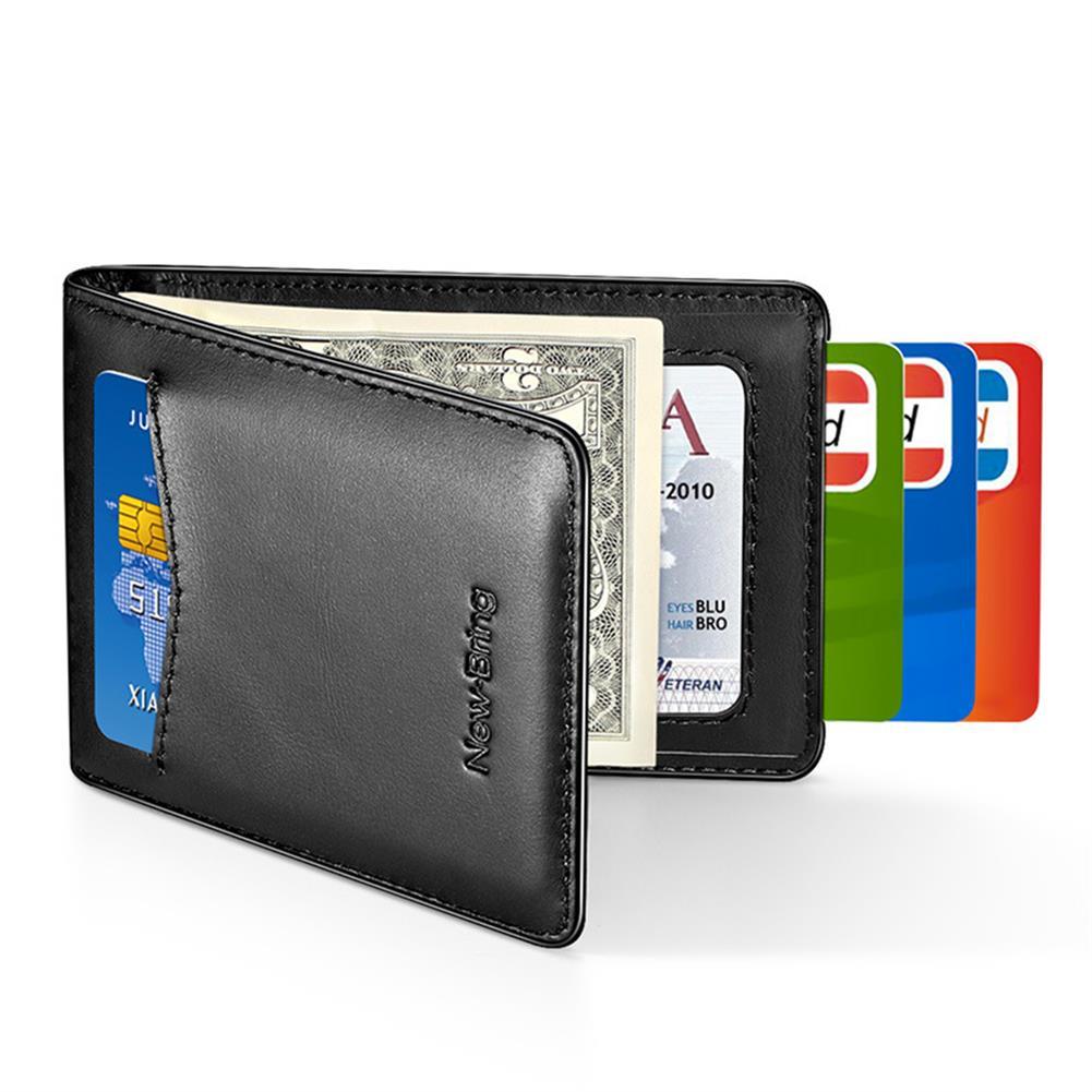 business-card-book NewBring Card Holder RFID Block Driver License Cash Cardholder Wallet Money Clip Business Credit Cardholder HOB1765813 3 1