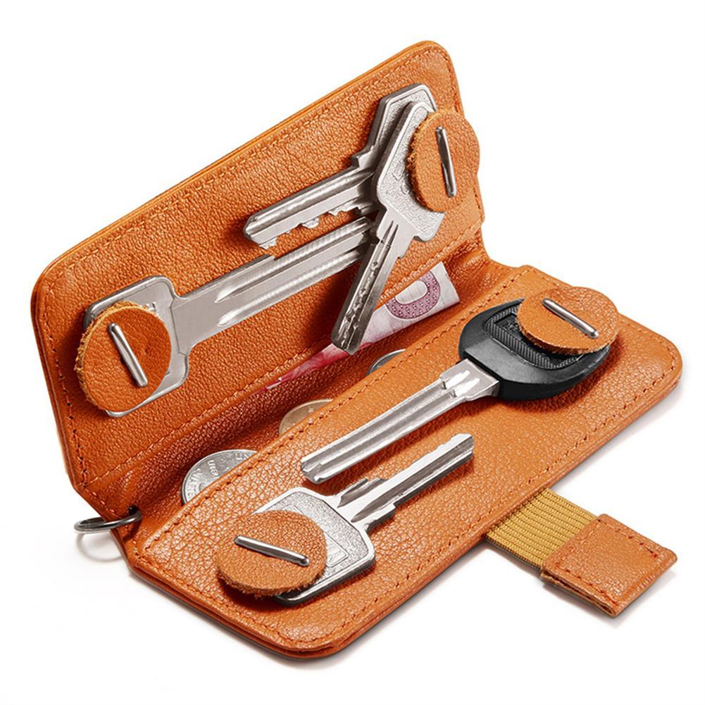 business-card-book NewBring Small Card Holder Genuine Leather Key holder Cash Cardholder Wallet Money Clip Business Credit Cardholder HOB1765841 1