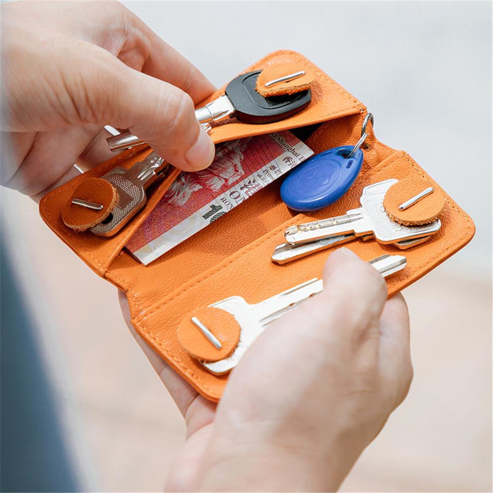 business-card-book NewBring Small Card Holder Genuine Leather Key holder Cash Cardholder Wallet Money Clip Business Credit Cardholder HOB1765841 1 1