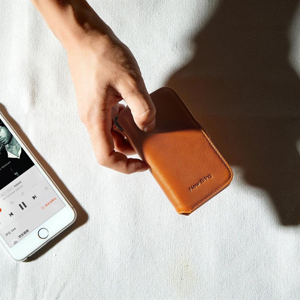 business-card-book NewBring Small Card Holder Genuine Leather Key holder Cash Cardholder Wallet Money Clip Business Credit Cardholder HOB1765841 3 1