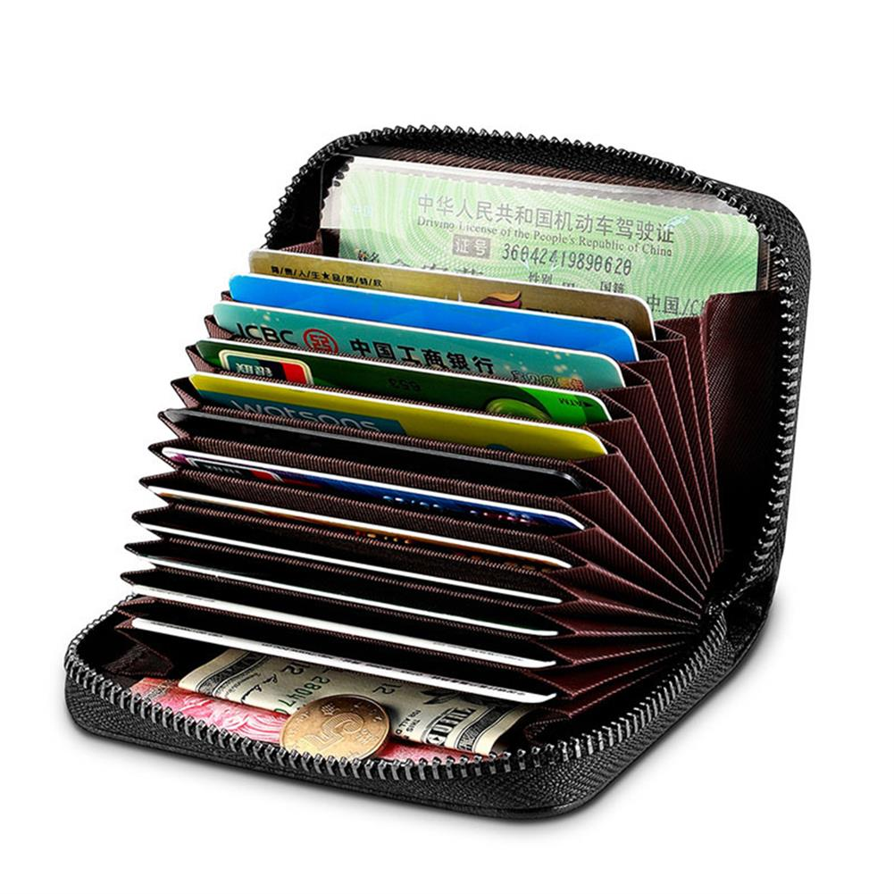 business-card-book NewBring Card Holder Multi Card Capacity NFC Blocking Business Card Holder Zipper Wallets Business Creative Gifts HOB1765884 1 1
