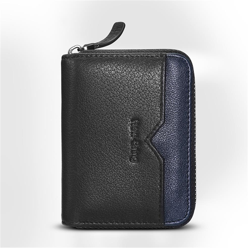 business-card-book NewBring Card Holder Multi Card Capacity NFC Blocking Business Card Holder Zipper Wallets Business Creative Gifts HOB1765884 2 1