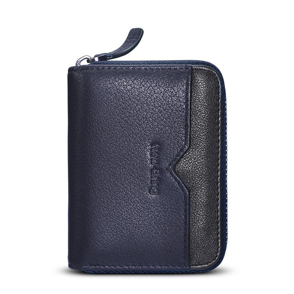 business-card-book NewBring Card Holder Multi Card Capacity NFC Blocking Business Card Holder Zipper Wallets Business Creative Gifts HOB1765884 3 1