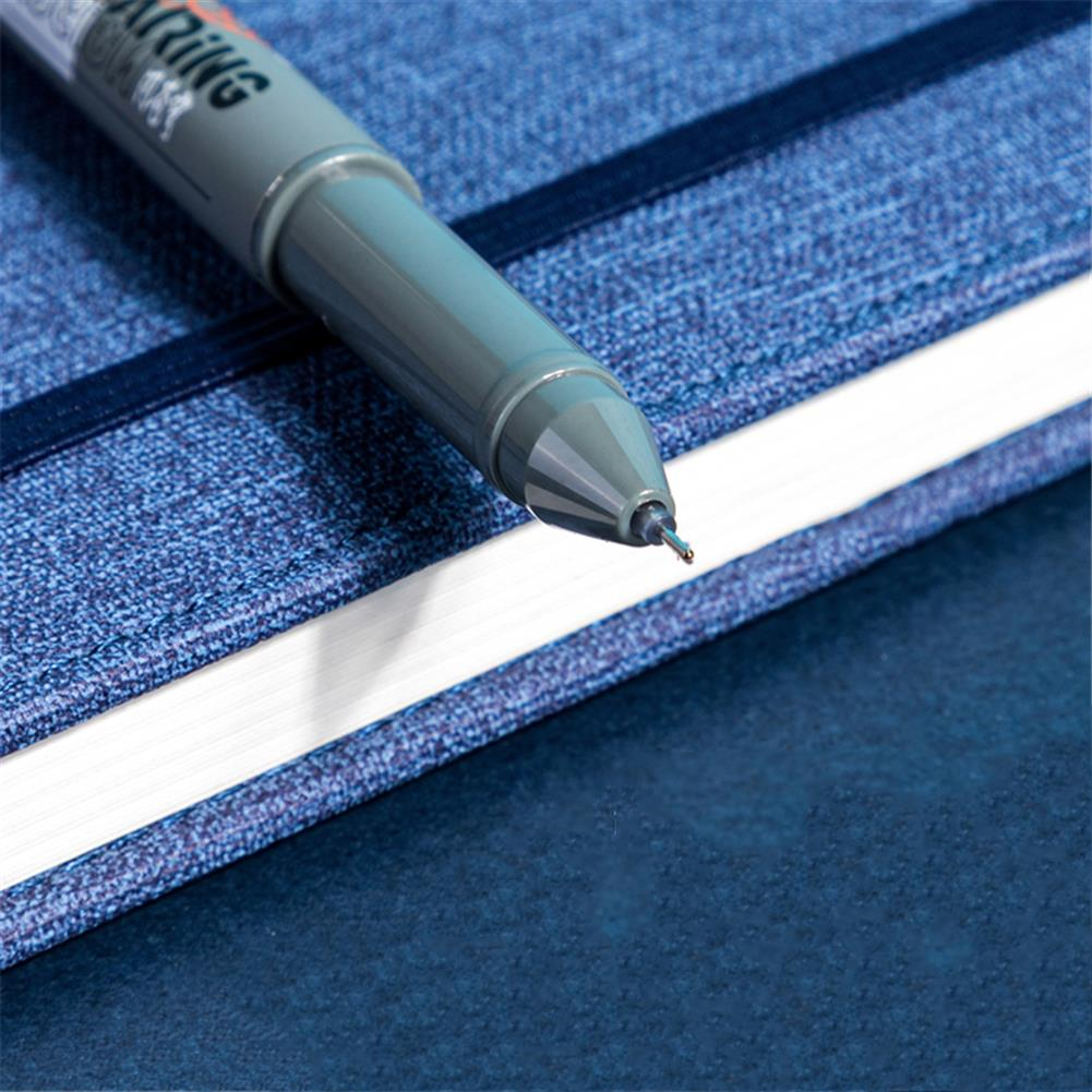 gel-pen Deli A624 0.5mm Gel Pen Set Smooth Writing Black Refill Ballpoint Pen Stationery School Students office Writing Supplies HOB1766213 3 1