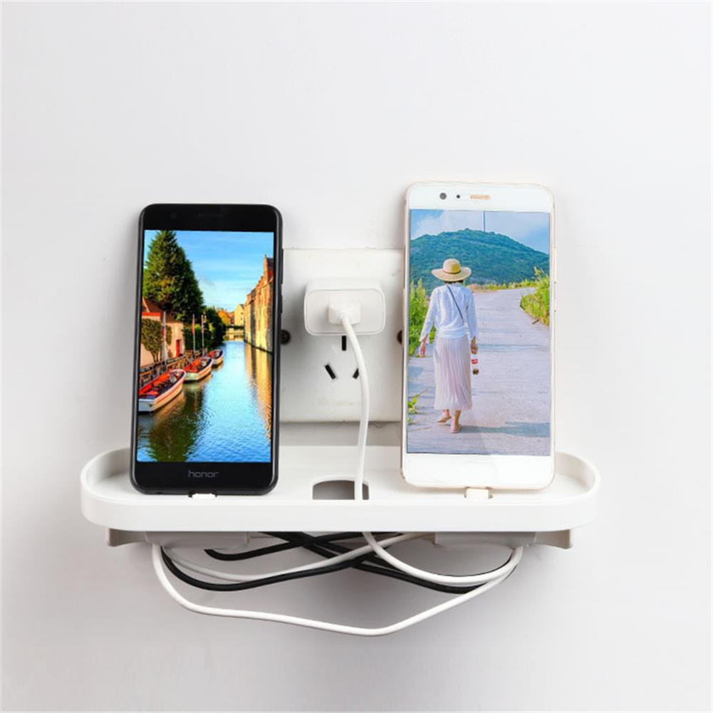 other-learning-office-supplies Mobile Phone Charging Shelf Bracket Wall Suction Cup Switch Socket Storage Rack Home office Universal Storage Supplies HOB1766277 1