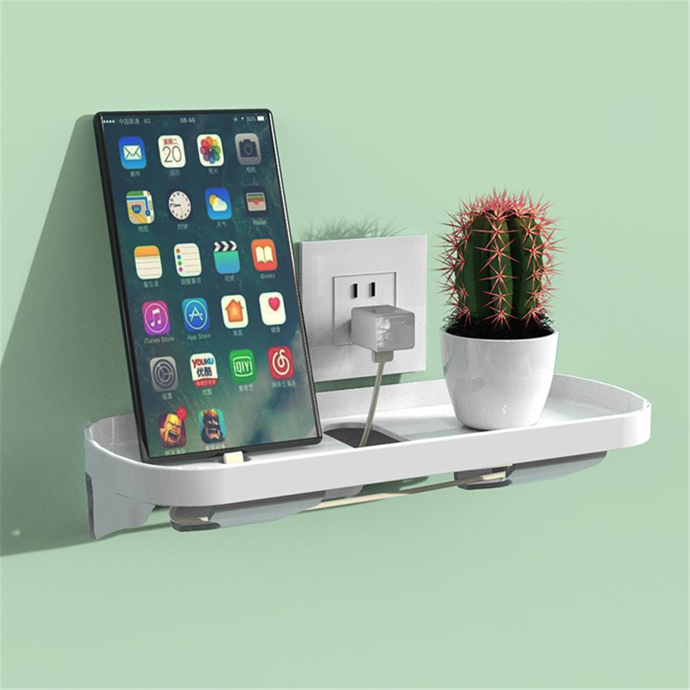 other-learning-office-supplies Mobile Phone Charging Shelf Bracket Wall Suction Cup Switch Socket Storage Rack Home office Universal Storage Supplies HOB1766277 3 1