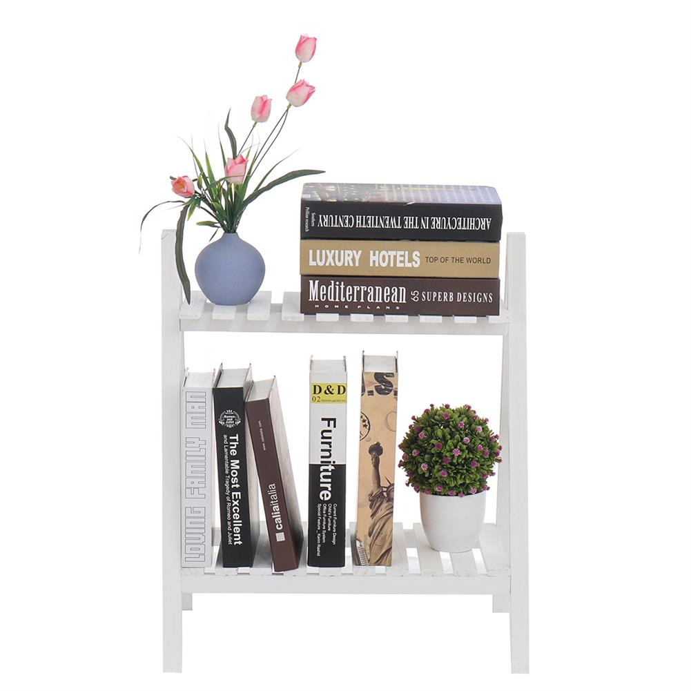book-stands 2 Layers Flower Racks Foldable Wood Plant Stand A-shape indoor Landing Shelf for Home Balcony HOB1766531 1 1