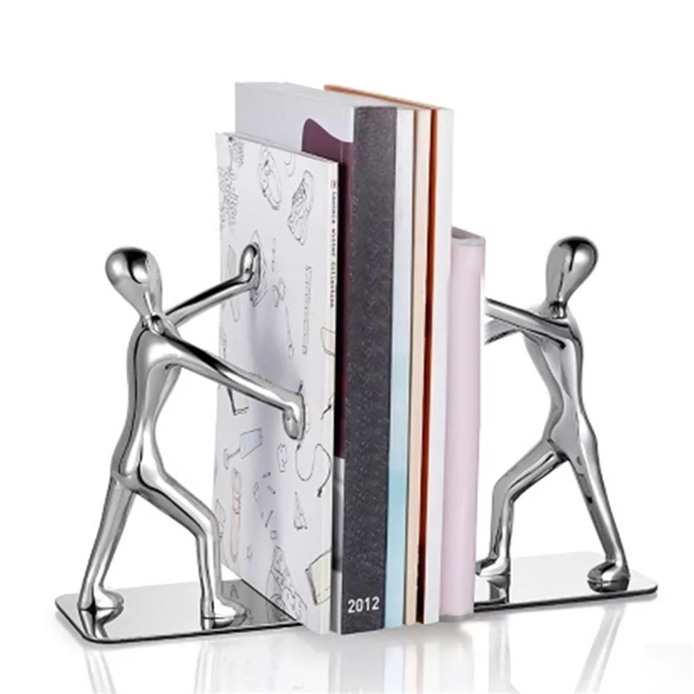 desktop-off-surface-shelves 2pcs Humanoid Figure Books Holder Desk Organizer Bookshelf Home office Decor Desk Accessories Ornaments Supplies HOB1766980 1 1