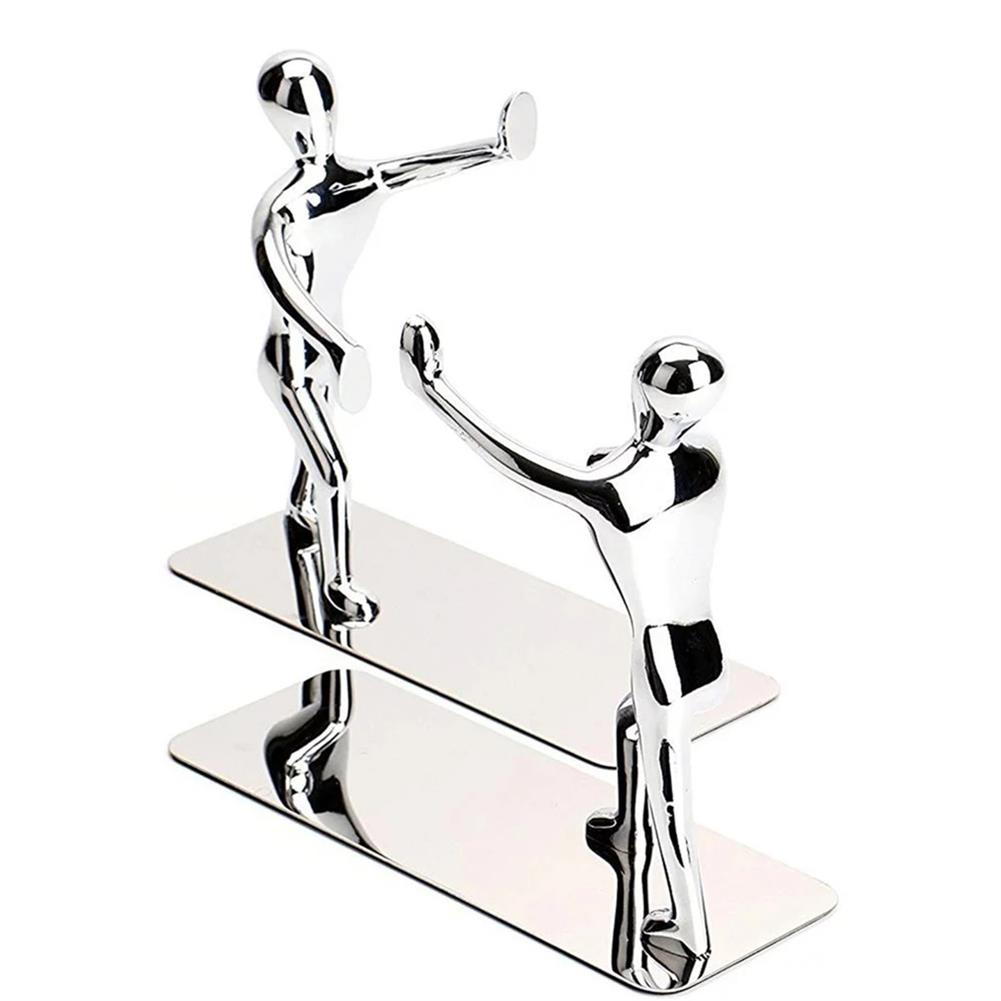 desktop-off-surface-shelves 2pcs Humanoid Figure Books Holder Desk Organizer Bookshelf Home office Decor Desk Accessories Ornaments Supplies HOB1766980 2 1