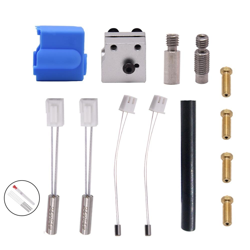 3d-printer-accessories Creativity Nozzle Hotend Silicone Sleeve Throat Handle thermistor Heating Pipe Heated Block Kit HOB1767027 2 1