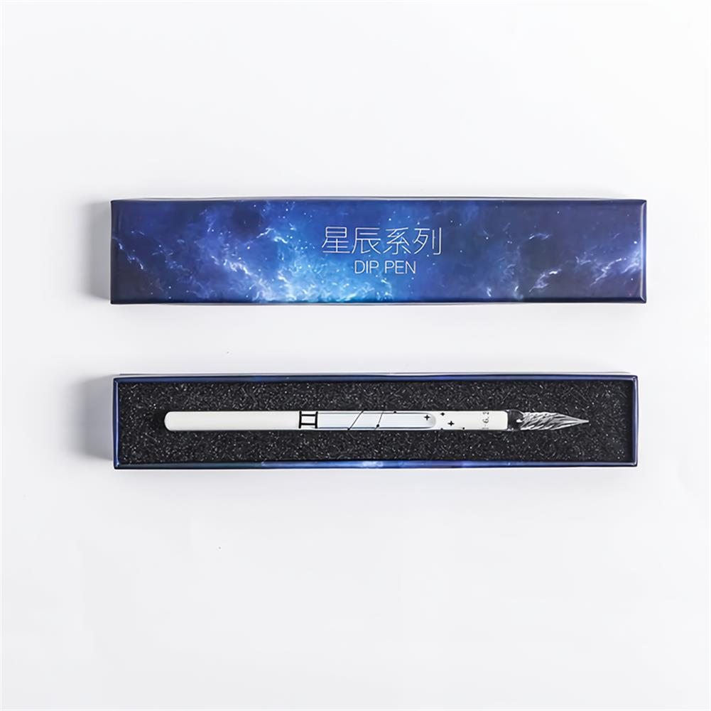 pen 1pc Dip Pen 12 Constellation Glass Pen Student Stationery Business office Writing Supplies Painting Pen Gift Box HOB1767133 2 1