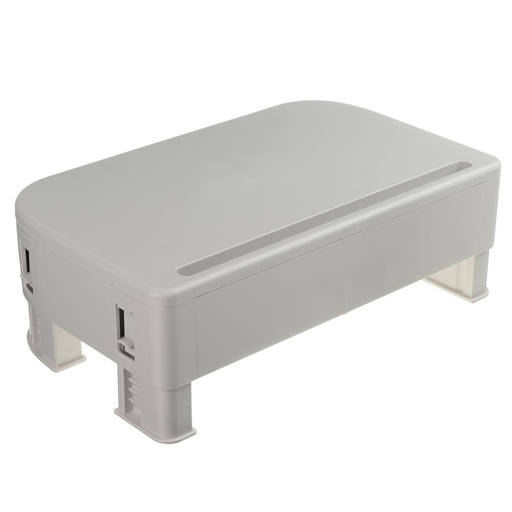 desktop-off-surface-shelves Computer Monitor Riser Height Adjustable Desktop LED LCD Monitor Support Stand Holder with 2 Storage Drawers & Tablet Slot HOB1767421 2 1
