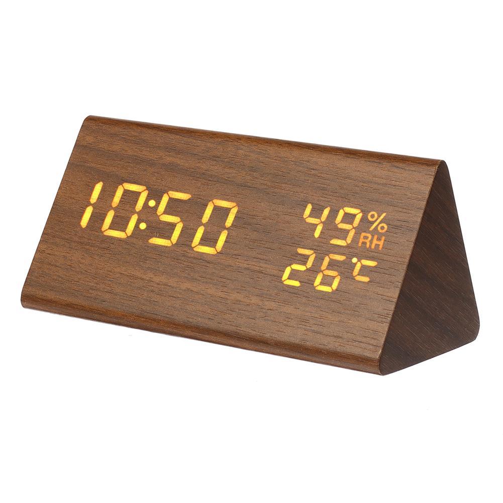 desktop-off-surface-shelves Triangle Electronic Alarm Clock Desktop Digital Wooden LED Time Display Clock for Bedroom Business office Time Manage HOB1767564 1