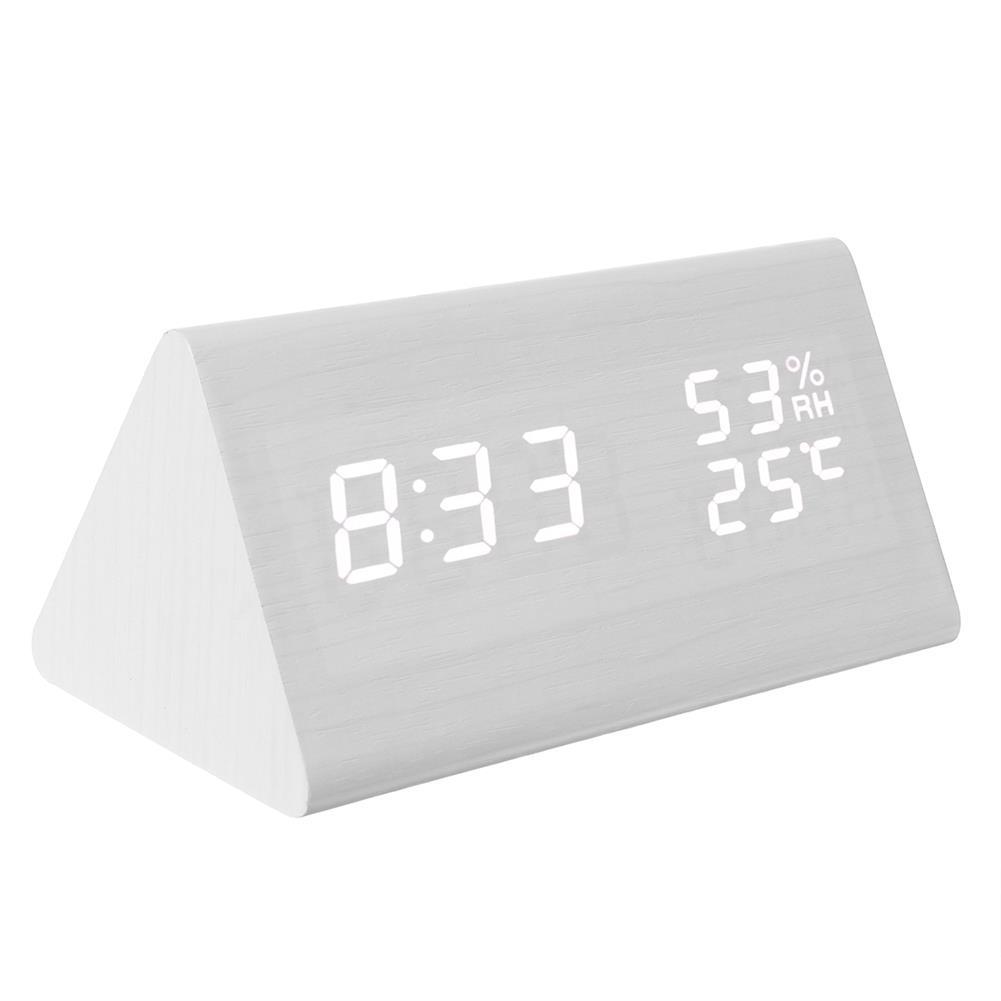desktop-off-surface-shelves Triangle Electronic Alarm Clock Desktop Digital Wooden LED Time Display Clock for Bedroom Business office Time Manage HOB1767564 2 1