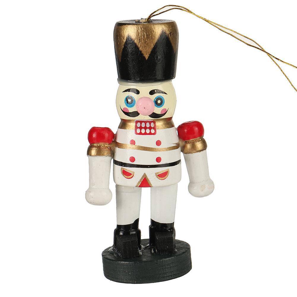 desktop-off-surface-shelves 6pcs 6cm Color Nutcracker Christmas Pendant Wooden Nutcracker Doll Soldier Vintage Handcraft Puppet Christmas Decorative Gifts HOB1767679 2 1