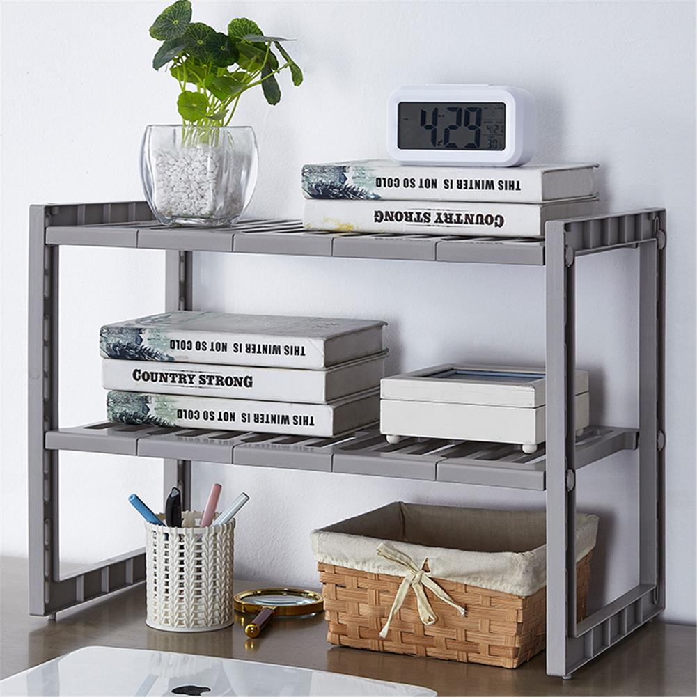 desktop-off-surface-shelves Double Layer Scalable Storage Rack Kitchen Multifunction Sundries Storage Shelf Suitable for Storing Laundry Supplies HOB1767815 1 1