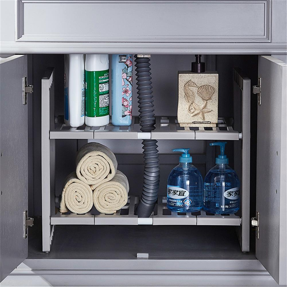 desktop-off-surface-shelves Double Layer Scalable Storage Rack Kitchen Multifunction Sundries Storage Shelf Suitable for Storing Laundry Supplies HOB1767815 3 1