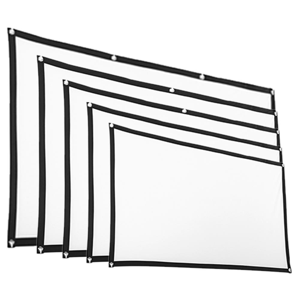 projector-screens 16:9 Projector Screen HD Foldable Projection Screen Cloth for Home office theater Movies indoors Outdoors 60/72/84/100/120-inch HOB1767895 1