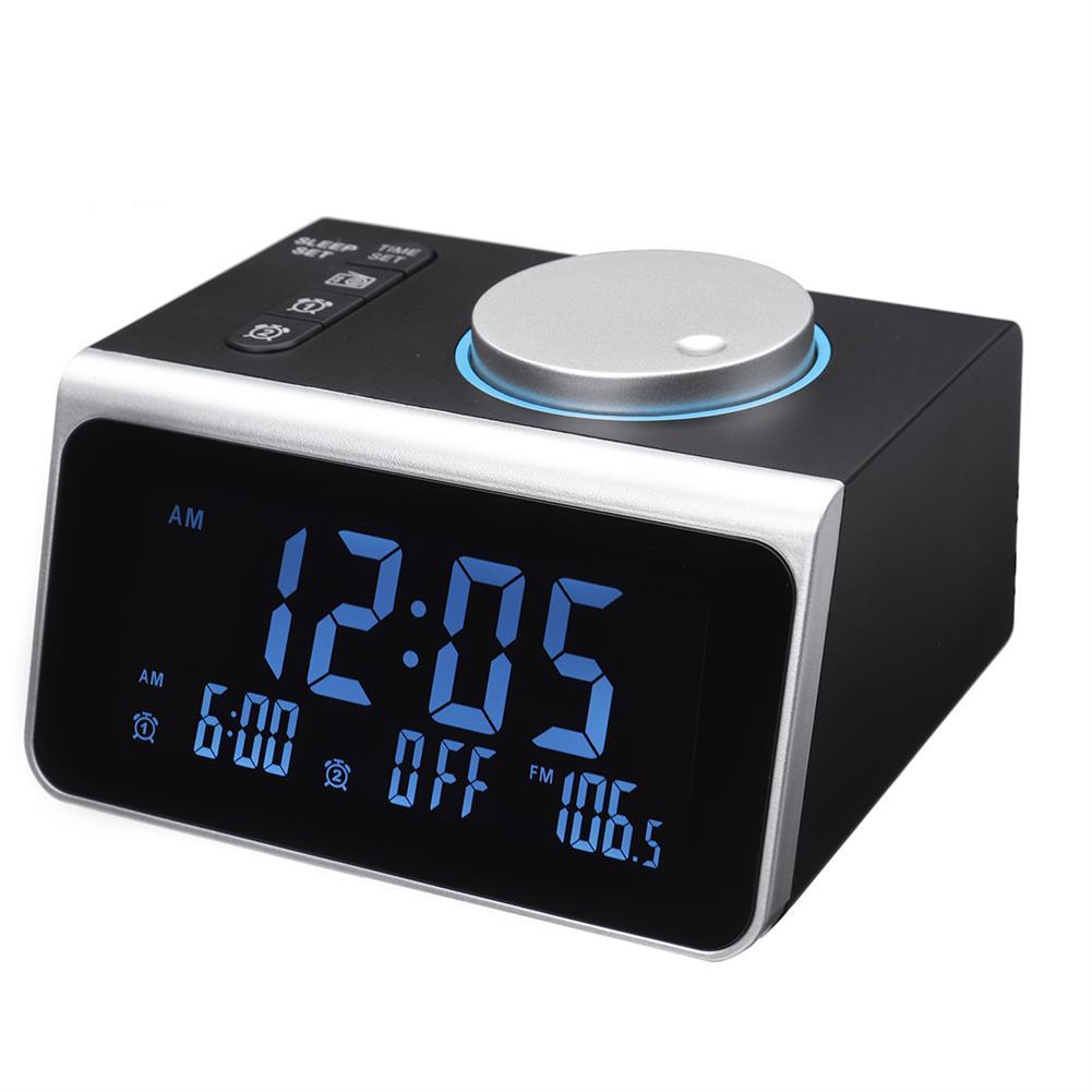 desktop-off-surface-shelves FM Radio Alarm Clock USB Mobile Phone Charging Base Sleep Mode Electronic Digital Table Clock Home Desk Ornament HOB1768231 1