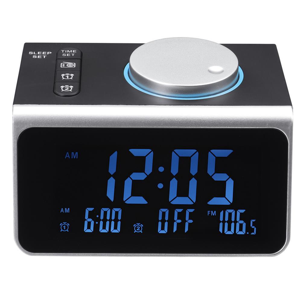 desktop-off-surface-shelves FM Radio Alarm Clock USB Mobile Phone Charging Base Sleep Mode Electronic Digital Table Clock Home Desk Ornament HOB1768231 1 1