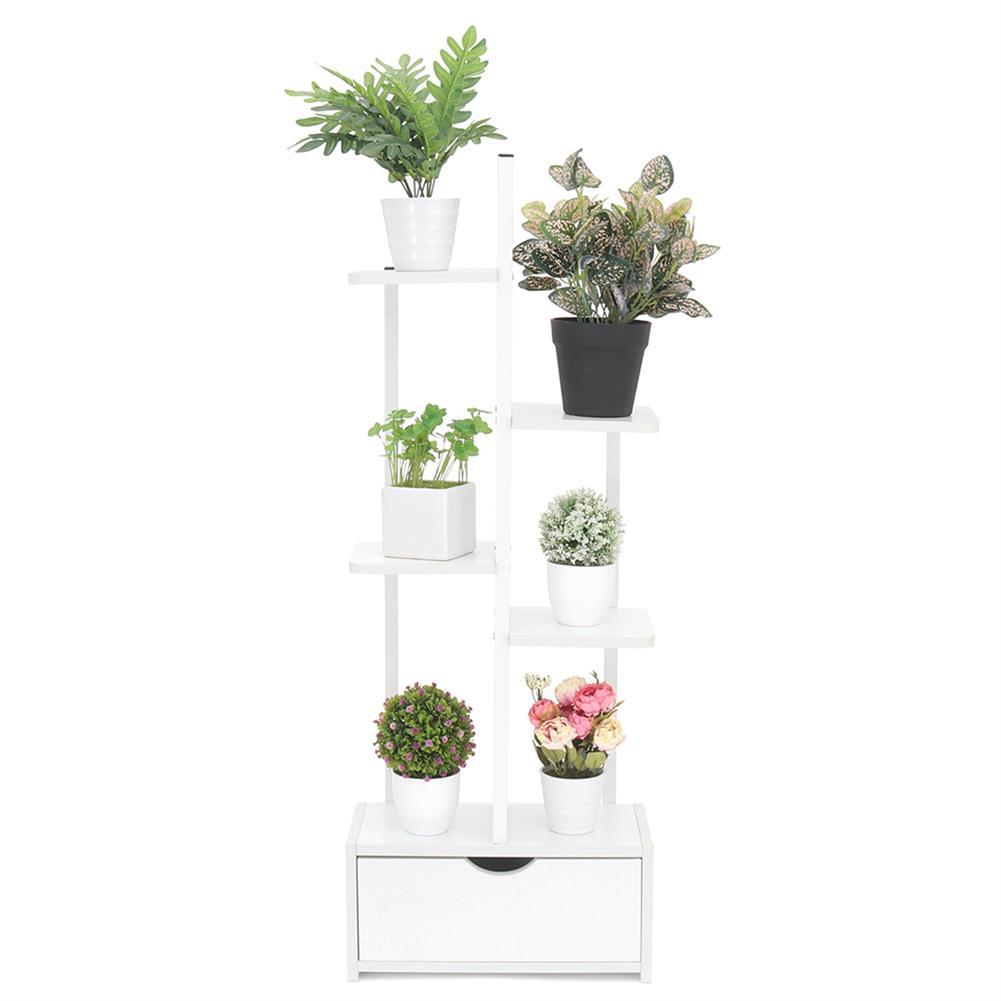 desktop-off-surface-shelves 5 Layers Plate Floor Balcony Shelf with Drawer Green Flower Shelf Decoration Home Living Room Ornament Supplies HOB1769123 3 1