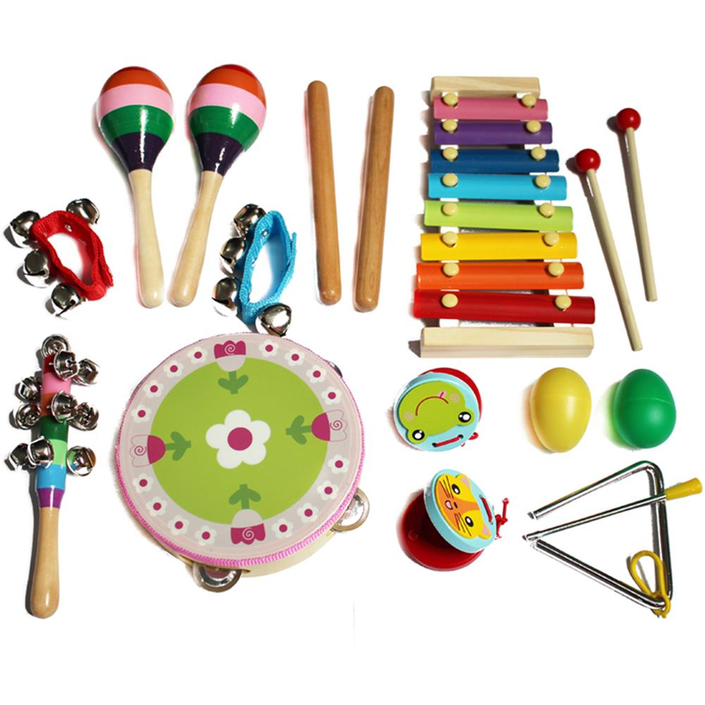 other-learning-office-supplies 14pcs Baby Wooden Musical instruments Toys Children Toddlers Percussion Set Teaching Aid Music for Kindergarten Kids HOB1769166 1